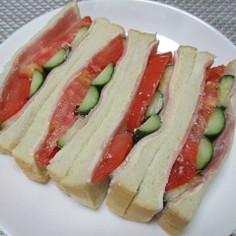 水っぽくならない野菜のサンドイッチ