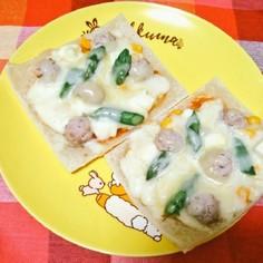 冷凍パイシートで♡簡単さくさくピザ