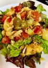 ポテトとシメジのガーリックオイルサラダ