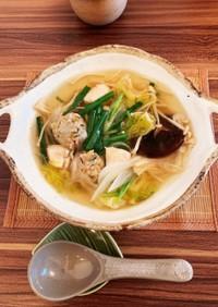 【鶏塩ちゃんこ鍋】超簡単なのに美味!