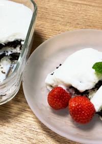 簡単!ヨーグルトムースのスコップケーキ