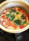 トマト&小松菜&卵のコンソメスープ