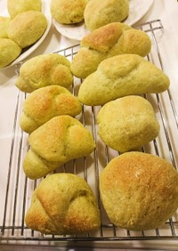 緑のお野菜たっぷりパン