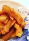 すりごまたっぷり筍と天ぷらの甘辛炒め