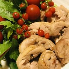 (冷凍)鶏肉から●鶏ハムの簡単ステーキ