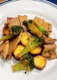 ♡豚肉と薩摩芋とブロッコリーのマヨ炒め♡