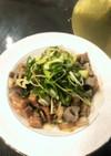レンコンと豚肉のサイコロ炒め