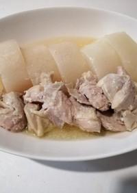 調味料2つで簡単☆塩麹鶏と大根の煮モノ
