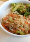ひき肉のチャプチェ風 給食のレシピ