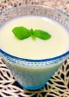過熟メロンの豆乳ジュース