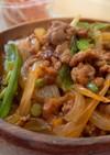 合い挽き肉と野菜のケチャップ炒め