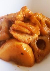 韓国風 鳥と筍と蓮根の コチュジャン炒め
