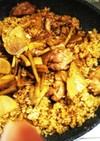 鶏肉と根菜の炊き込みご飯