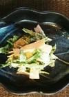 山菜♪うどの芽とハムのマスタードマヨ和え
