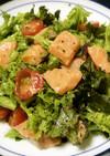 美容食♪「わさび菜とサーモンサラダ」