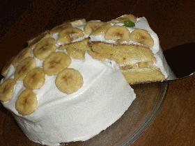 バナナショートケーキ