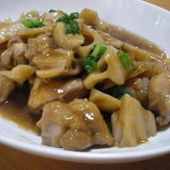 鶏肉とレンコンのうま煮