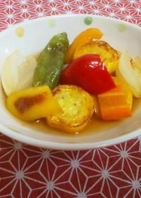 白だしで簡単 夏野菜の焼き煮浸し