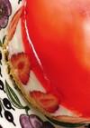 3層の苺レアチーズケーキ