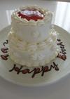 ロールスポンジで二段ケーキ☆