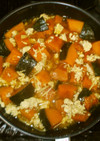 かぼちゃの生姜煮♪簡単ひき肉アレンジ