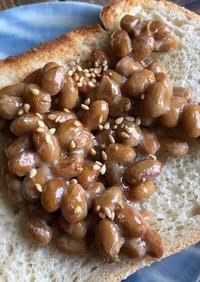 納豆蜂蜜トースト