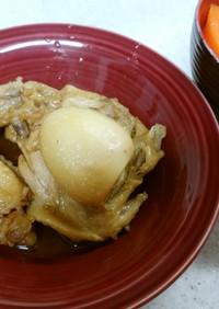 ❄鶏手羽の甘酢煮込み&ジャガイモの味噌汁