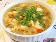 豆腐ともずくの酸辣湯スープの写真