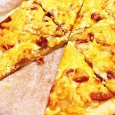 発酵なしで☆簡単じゃがマヨ豆腐ピザ