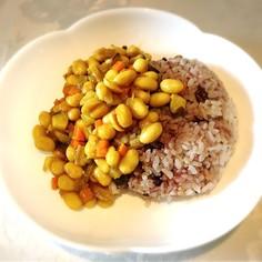 超ヘルシー♡大豆と野菜の和風ドライカレー