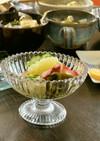 ニューサマーオレンジと蒸しタコの酢の物