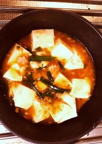 簡単・焼き鳥缶詰を使って麻婆豆腐