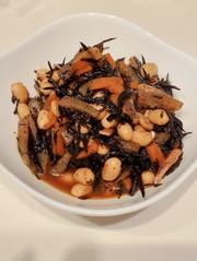 栄養満点!ひじきと大豆の煮物の写真