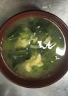 青菜とたまごの中華スープ