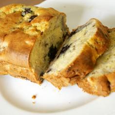バナナとブルーベリーのHMパウンドケーキ
