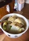 白菜と油揚げの白だし煮