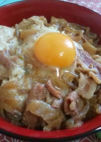 リメイク 豚すき焼き丼