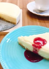 ホワイトチョコで!簡単レアチーズケーキ