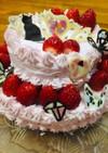簡単推しデコレーションケーキ