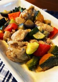 コロコロ可愛い!鶏と夏野菜の揚げ浸し