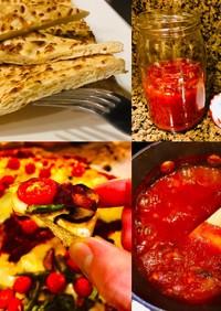 イースト不要 簡単 ピザ生地とピザソース