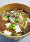 茗荷とミョウガタケの味噌汁