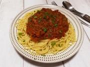 野菜たっぷり!ミートソーススパゲティの写真