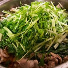 簡単美味しい!豚肉と水菜のはりはり煮