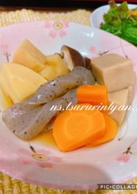 高野豆腐と野菜の煮しめ