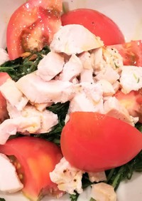 若芽ひじきのトマトむね肉サラダ