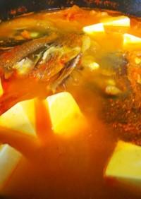 簡単韓国・魚の辛いスープ(ズンドゥブ)
