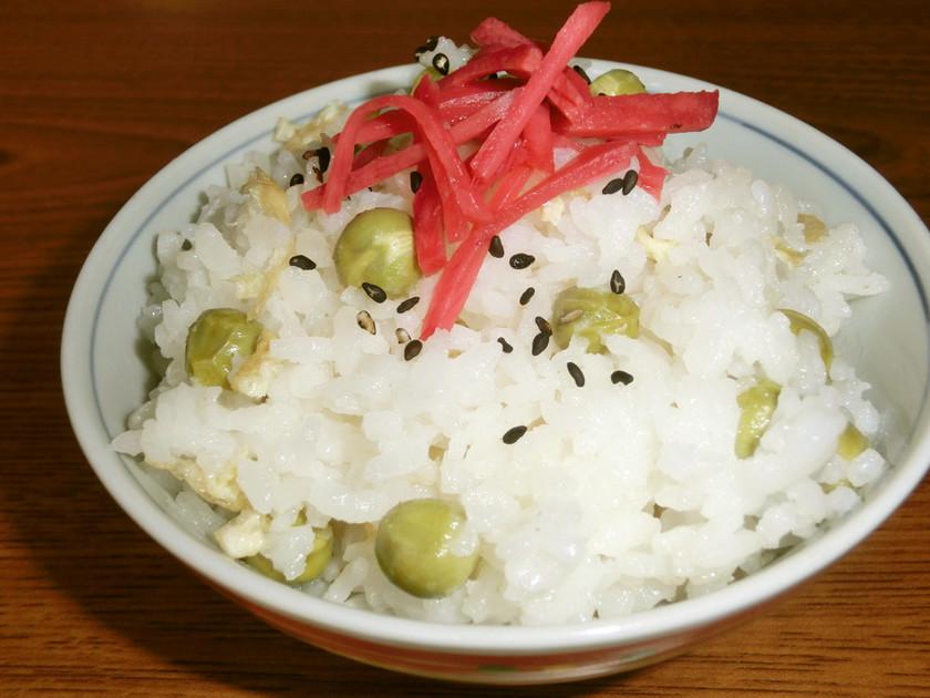 王道グリンピースご飯