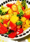 エビとパプリカのカラフルサラダ