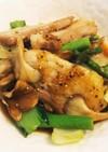 豚肉とアスパラと青野菜のきのこバタポン